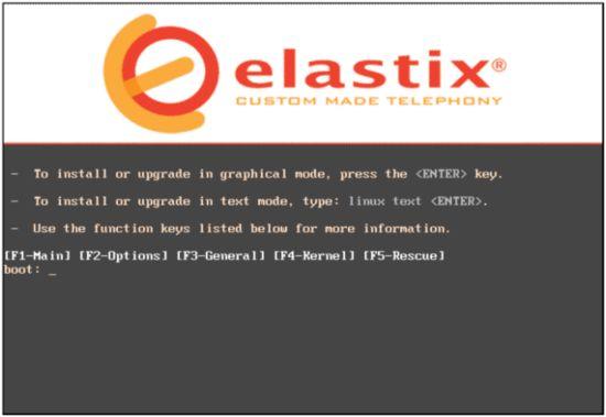Начало инсталляции Elastix