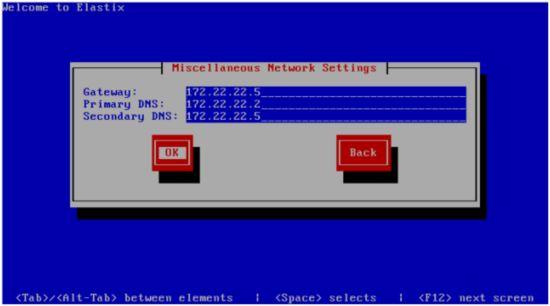 Настройке сетевой карты Elastix2