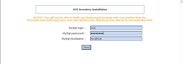 OCS inventory Installation
