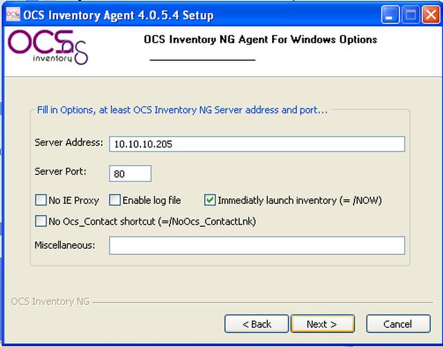 OCS Inventory NG Agents