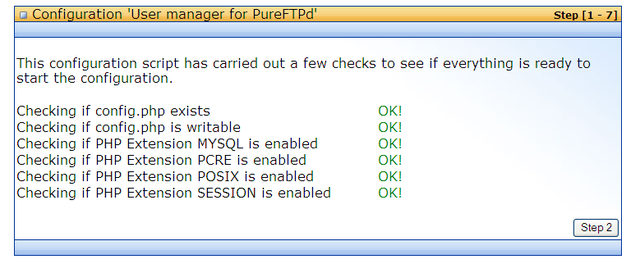 pure-ftp install
