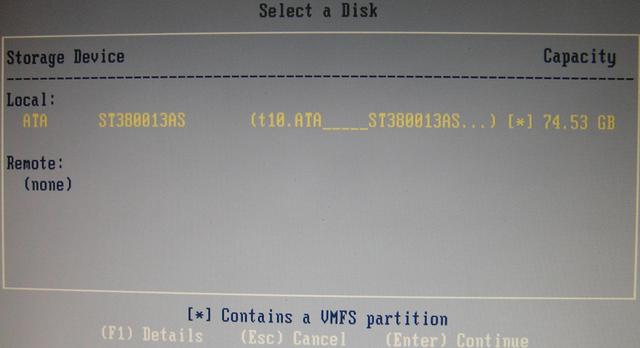 Install Vmware ESXi