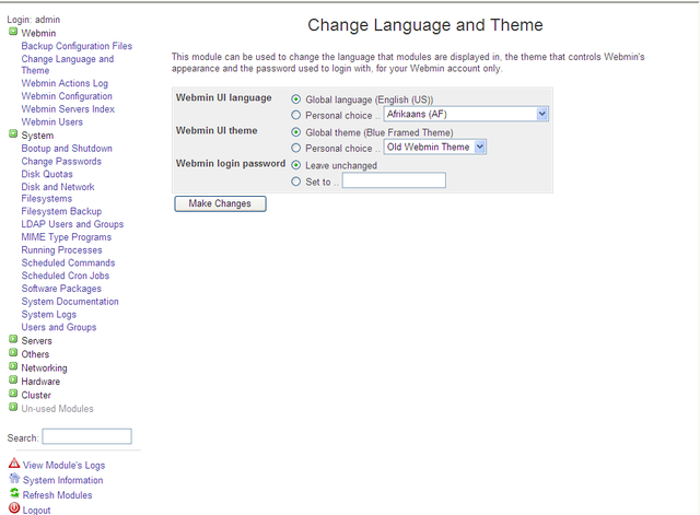 Webmin Configuration1