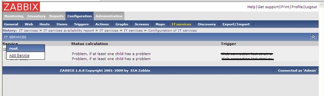 Настройка качества обслуживания в zabbix